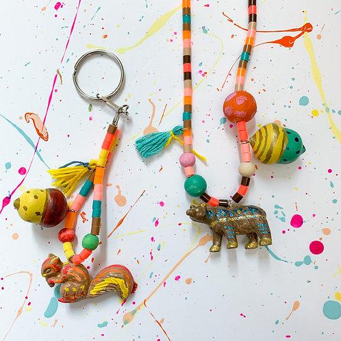 Woodland Animal Necklace or Keychain - Take Home Kit