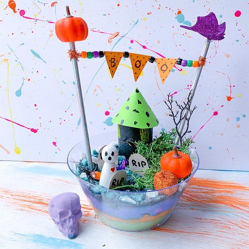 Halloween Themed Fairy Garden - Take Home Kit