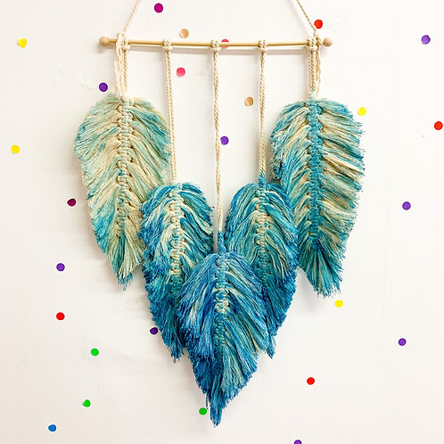 Feather Macrame Wall Hanging Kit - Video Tutorial Available