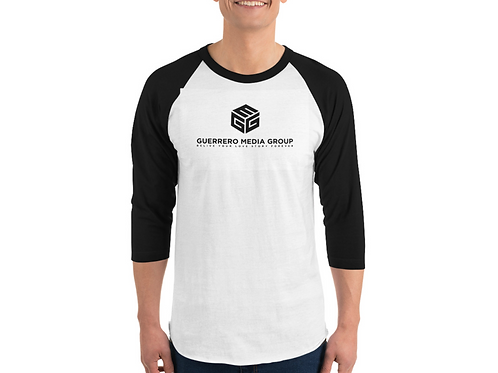Unisex 3/4 Sleeve Raglan Shirt   Tultex 245 (White/Black / L)