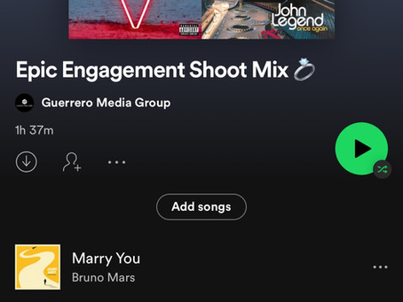 THE ULTIMATE SPOTIFY PLAYLIST FOR YOUR ENGAGEMENT SHOOT