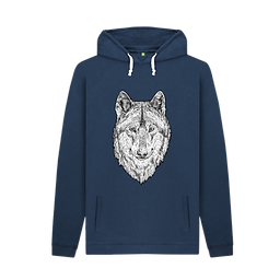 eco friendly wolf hoodie
