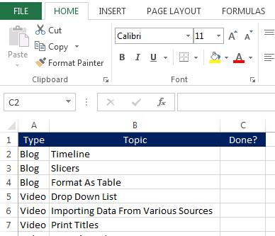 Build An Excel Drop Down List