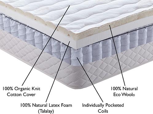 Hybrid Natural Mattress - Pocketed Coils + Natural Latex
