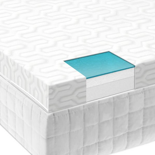 "Isolus 2.5"" Gel Memory Foam Mattress Topper"