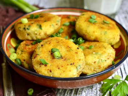 Potato And Herb Croquettes With Mushroom Sauce