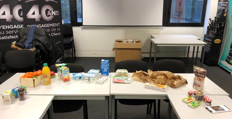 Ce matin, Intervention Diététique sur le Petit-Déjeuner chez Midas France pour ATID Consulting.