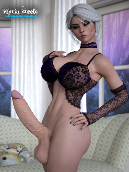 Sexy Ciri poses seductively.  Alternate versions of this picture are available on my Patreon at the $3 tier.