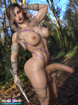 Beautiful Svea, from the Dauk'r tribe, is on the hunt.  For what?  You be the judge.