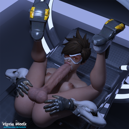 After a tense day, Tracer decides to take some time for herself.