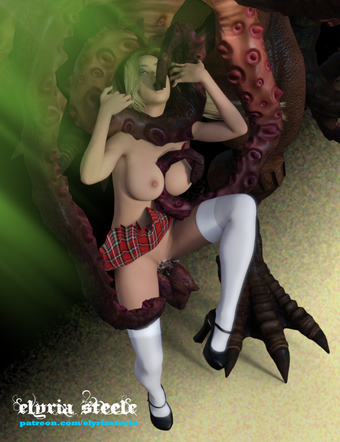 Cthulhu gets to know his new bride.  From my erotic story Promised to Cthulhu.