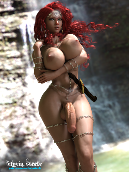 Phaedra as a futa!  An unwatermarked version of this picture is available on my Patreon at the $1 tier, and a 4K version plus an erect and female variant are available at the $3 tier.