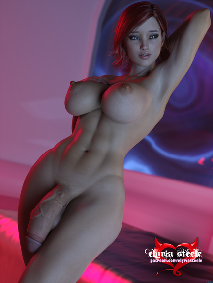 An unwatermarked version of this picture and a female variant are available on my Patreon at the $1 tier, and 4K versions of each plus erect futa and horsecock variants are available at the $3 tier.