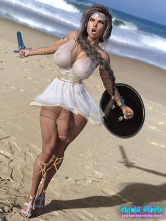 Melaina, the sexy Amazon my Patrons helped me create!