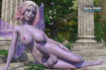 Updated model of Lunaria.   An unwatermarked version of this picture and a female variant are available on my Patreon at the $1 tier, and a 4K version of each is available at the $3 tier.  A desktop calendar of each is available at the $2 tier.