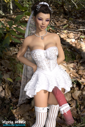 Having spent all of their money on their dream wedding, Isabella and her new spouse decided they would make their wedding pictures more intimate by taking them themselves.  They were having a really fun time with the photos and had already taken a ton of pictures that were perfect.  Isabella's spouse decided it was time to spice things up by having her pose more provocatively, and she happily obliged.