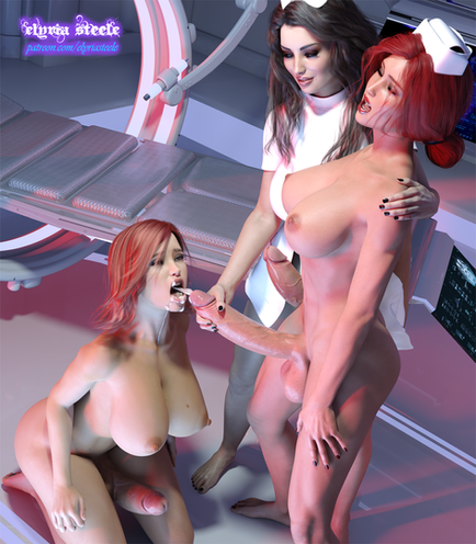Commander Shepard, Yennefer and Triss Merigold