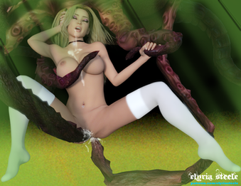 Lucy being pleasured by Cthulhu.  From my erotic story Promised to Cthulhu.