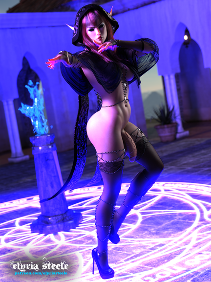 Nymeena wants to cast a spell on you!    Alternate versions of this picture are available on my Patreon at the $3 tier.