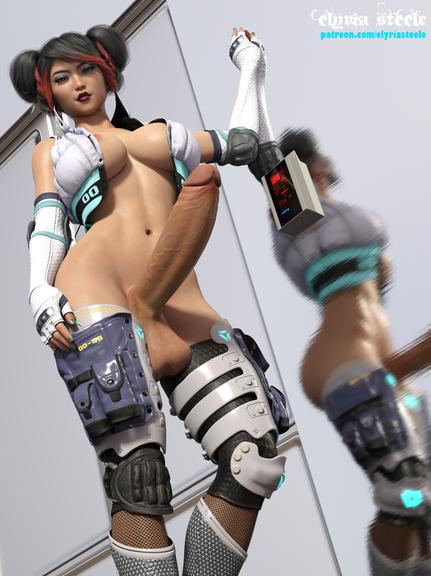 In the year 3069, pilot Akemi McKowski gets ready to pilot her sex mech.