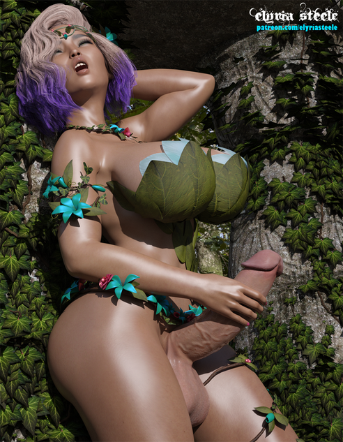 Syl'aria, Queen of the Wood Elves, communes with the spirits of nature.