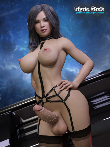 Miranda Lawson from Mass Effect.  An unwatermarked version of this picture is available on my Patreon at the $1 tier, and a 4K version (plus horsecock and female variants) is available at the $3 tier.