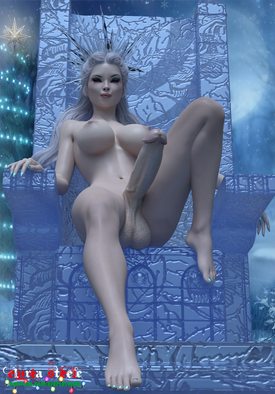 The Ice Queen sits upon her throne and commands you to worship at her feet.  If you kiss her feet, she may reward you with a Merry Christmas.