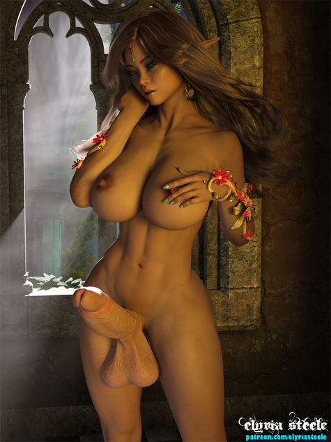 Druidess Kaelindra prepares for a secret rendezvous in her private chambers.