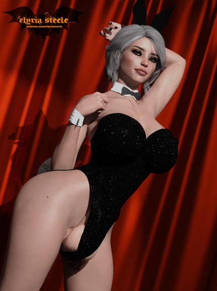 Ciri from The Witcher dresses up as a Playboy Bunny for Halloween!  A nude version, nude horsecock version and nude female version are available on my Patreon at the $1 tier, and 4K versions of each are available at the $3 tier.