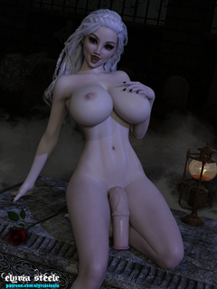 After catching your scent on the cool night air, Lady Mireliana perks up at the sight of you.