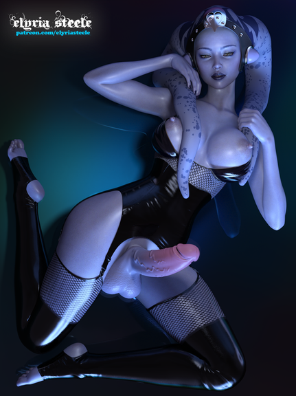 May the 4th be with you!  An unwatermarked version of this picture (plus a female variant) is available on my Patreon at the $1 tier, and a 4K version of each (plus a horsecock variant) is available at the $3 tier.