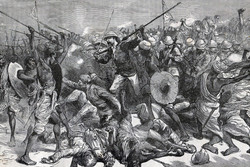 The Death of Colonel Burnaby at Abu Klea, 17 January 1885