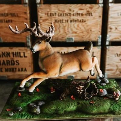 Leaping Buck Deer Cake