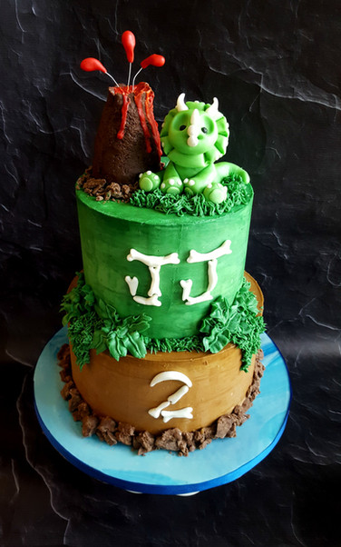 Buttercream Dinosaur Cake