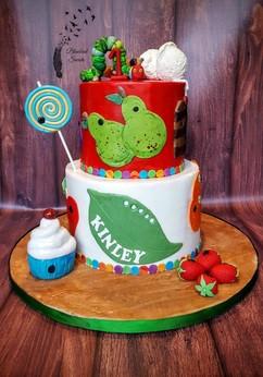 Very Hungry Caterpillar Inspired Birthday Cake