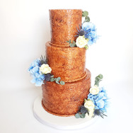 Western tooled leather wedding cake