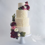 Buttercream ruffle diamond cake