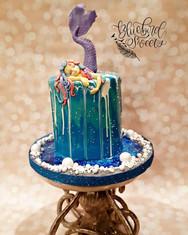 Sleeping Mermaid Mirror Cake