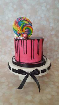 Lollipop drip cake
