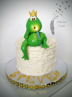 Frog Prince 1st Birthday Cake