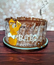 Rustic deer baby shower cake