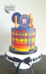 Houston Astros Candy Drip Cake