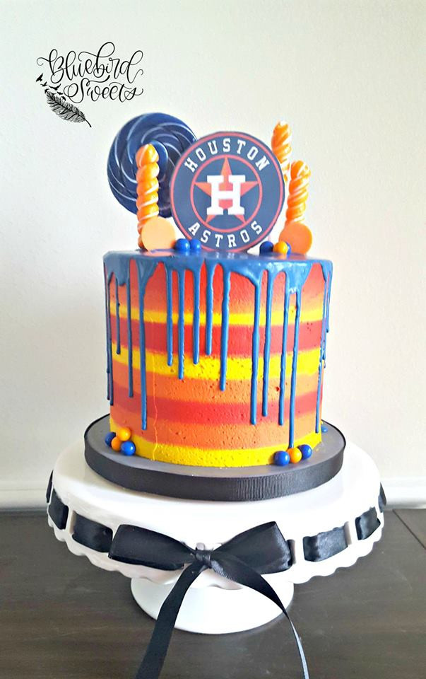 Houston Astros Candy Drip Cake