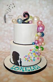 Fondant Bubble Themed cake