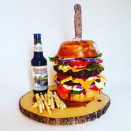 Hamburger & Fries Sculpted Cake