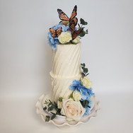 Rustic Butterfly wedding cake
