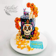 Coco Day of the Dead Birthday Cake