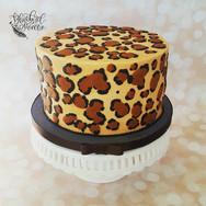 Leopard Buttercream Cake