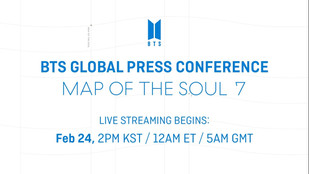 BTS Global Press Conference 'MAP OF THE SOUL : 7'
