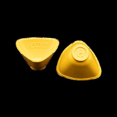 Cuia de Silicone Triangular AMARELA Holder